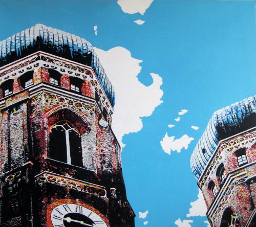 Leinwandbild Direkt Art HOSEUS, Frauenkirche 210x180