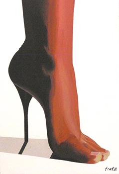 Leinwandbild HOSEUS, Fuss 100x150, Kunst kaufen und Kunst mieten