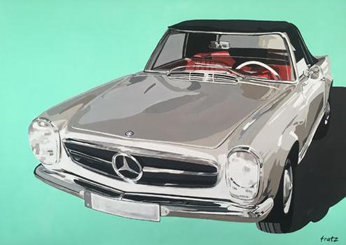 leinwandbild Mercedes Pagode-230sl-140x100
