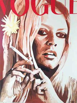 Leinwandbild individuell BB Vogue 100 x 150, Direkt Art Arbeit im Kundenauftrag ATELIER