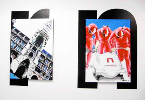 Leinwandbildprojekt BG Ausschnitt 3, 9 Bilder 15m, Direkt Art Arbeit im Kundenauftrag HOSEUS, Kunst: : Leinwandbilder, Skulpturen. HOSEUS ist ein Künstlerpaar in München und erschafft seine Werke mit Fushiontechnik