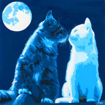 Leinwandbild Direkt Art HOSEUS, Katzen 50 x 50