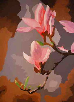 Leinwandbild Direkt Art HOSEUS, Magnolien 150 x 200