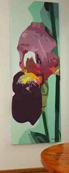 Leinwandbild Direkt Art HOSEUS, Schwertlilie 70x180
