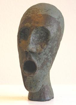 Skulptur Kopf blau 20 cm, HOSEUS, Kunst: