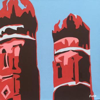 Leinwandbild Direkt Art HOSEUS, Frauenkirche 40x40