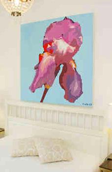 Leinwandbild Direkt Art HOSEUS, Schwertlilie 150x150