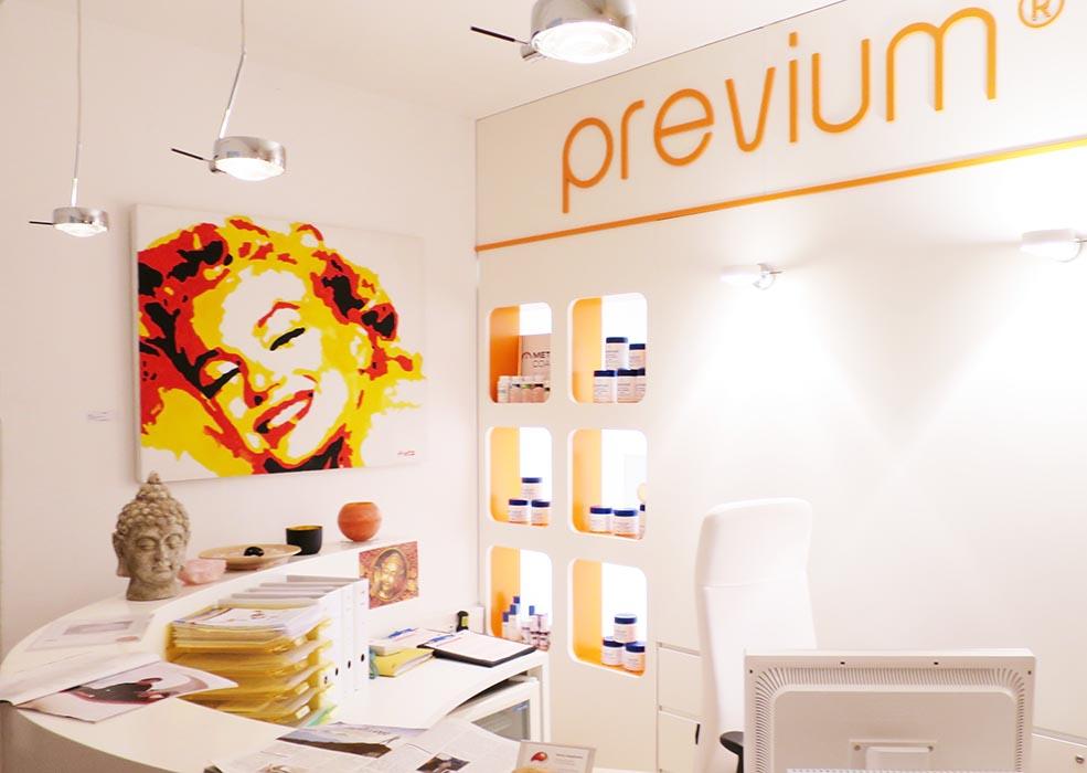 Ausstellung: Leinwandbild Marylin in der Previum-Lounge, München