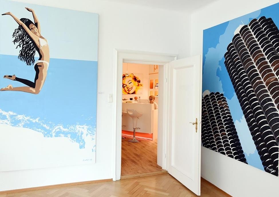 Ausstellung: Leinwandbild Marina Towers, Chicago in der Previum-Lounge, München