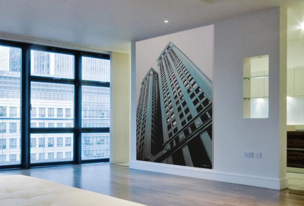 Kunst mieten: New York, Equity Building, Leinwandbild von HOSEUS zur Miete in Geschäftsräumen